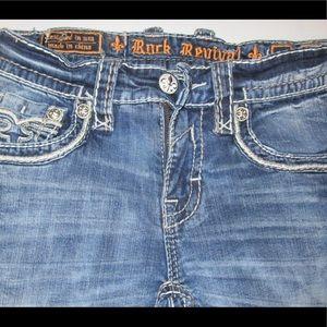 Men's Buckle Rock Revival Boot Cut Jeans